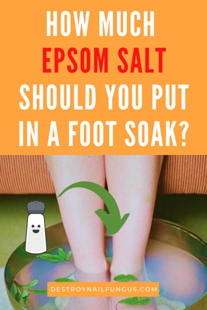 how much epsom salt for foot soak