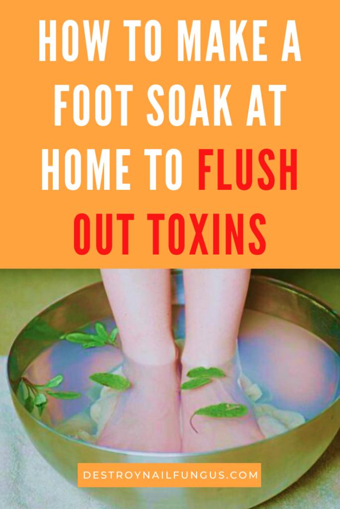 foot soak to remove toxins