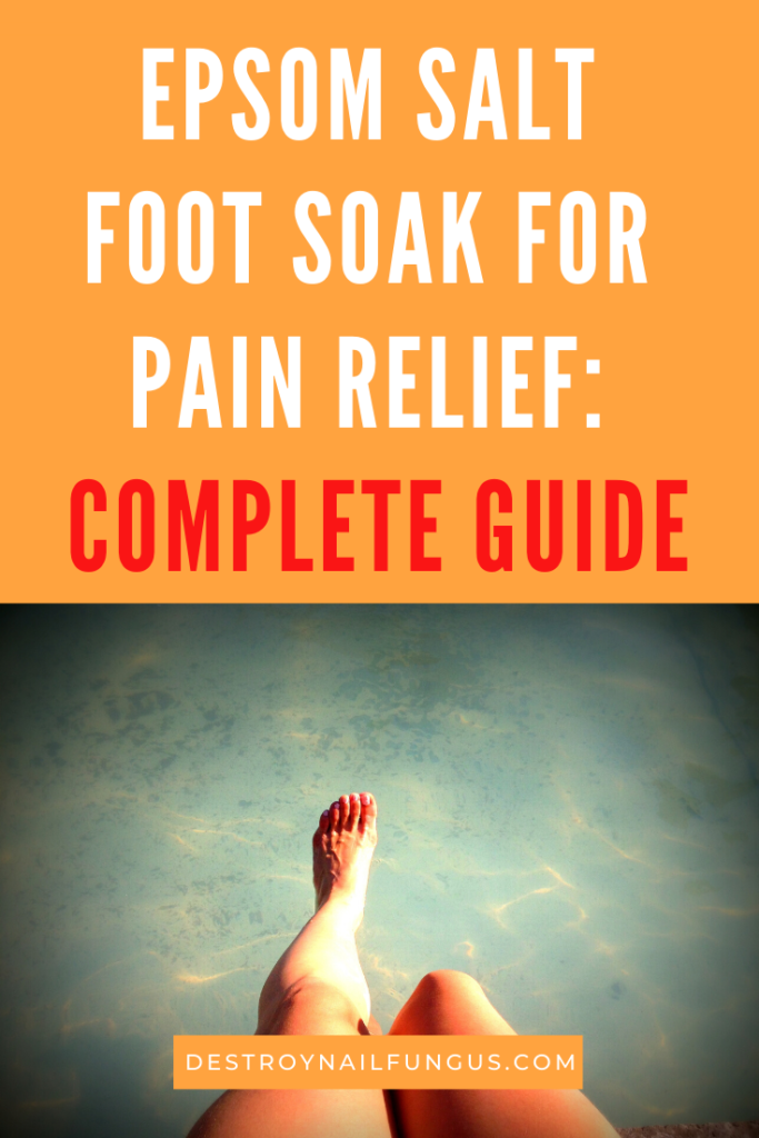 epsom salt for foot pain