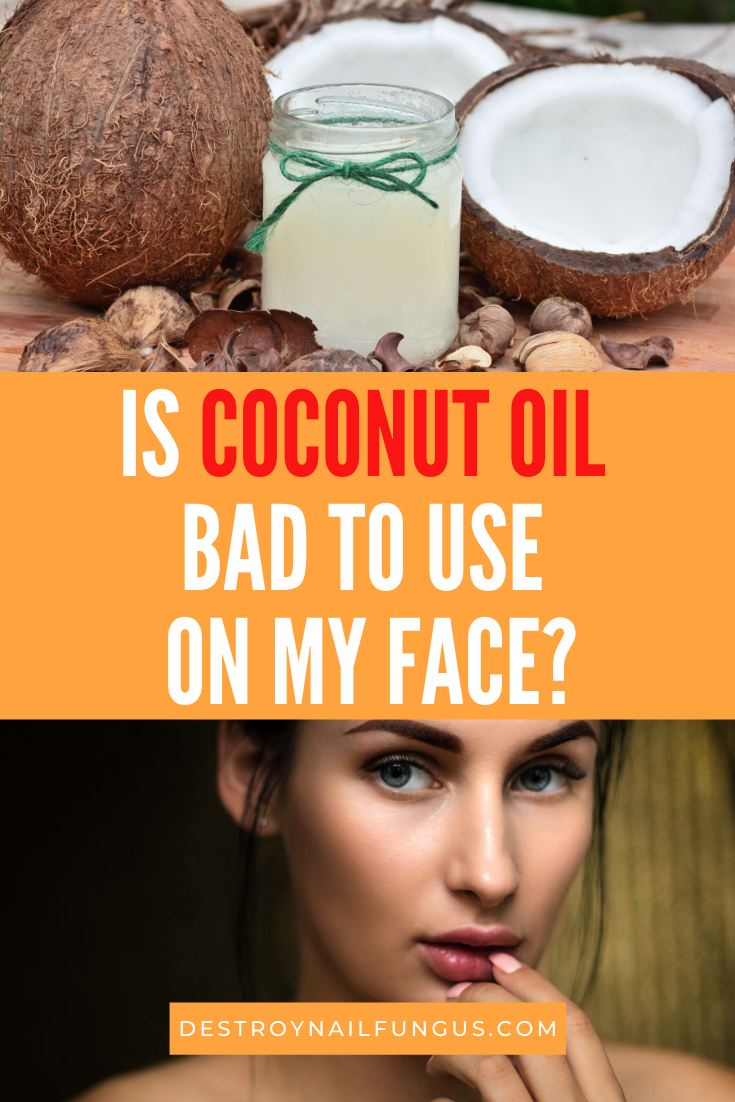 coconut oil on face