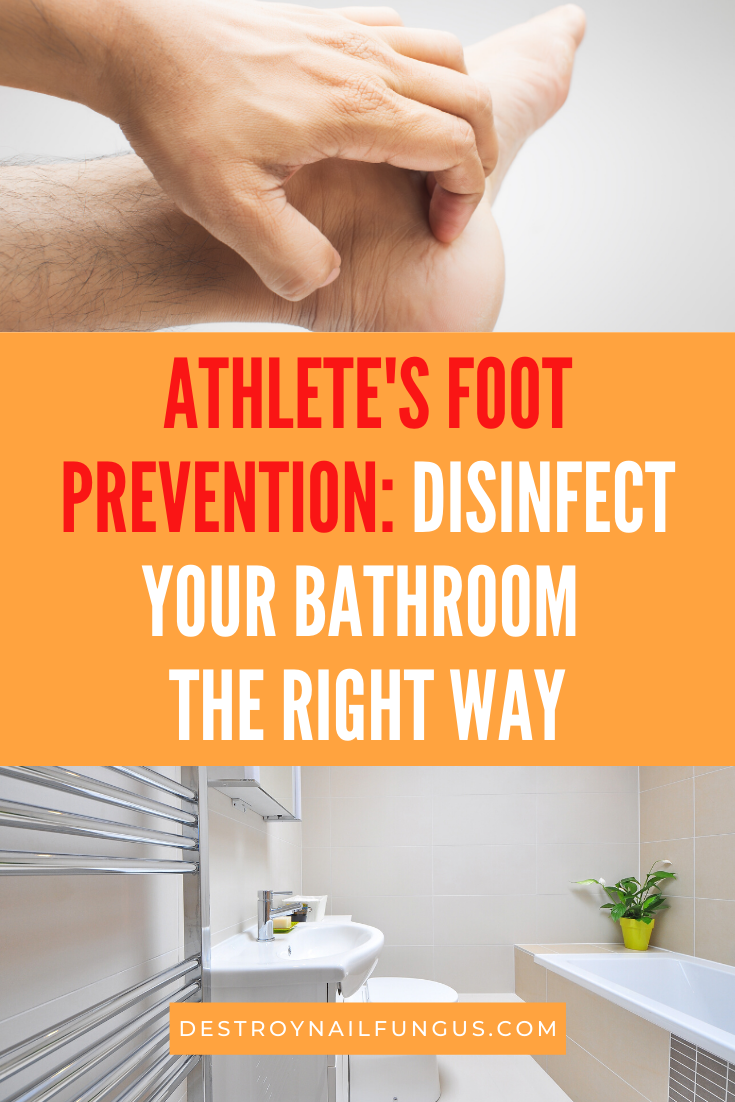 how to remove athlete's foot fungus from a bathroom