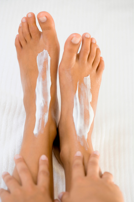 how to clean stained feet
