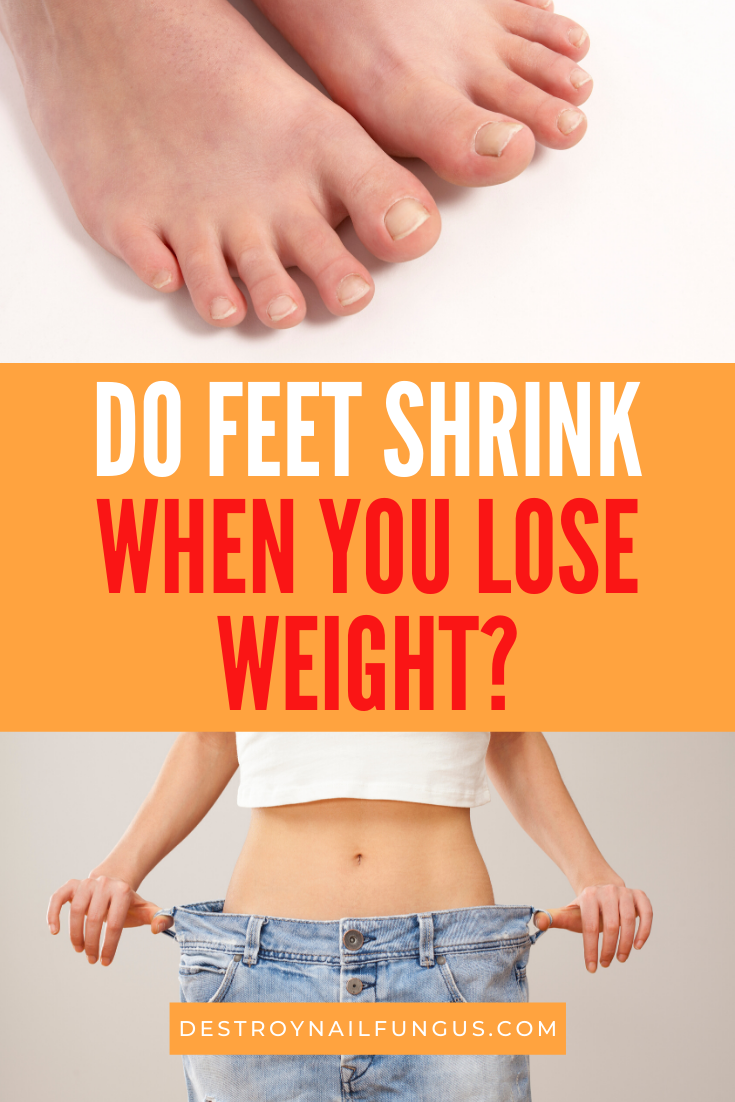 can feet shrink with weight loss