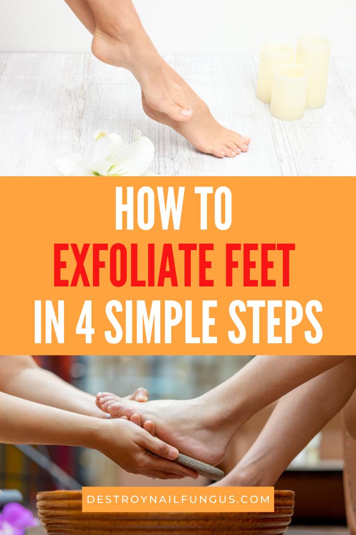 how to exfoliate feet