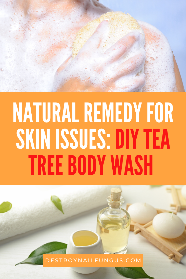 how to make tea tree oil body wash